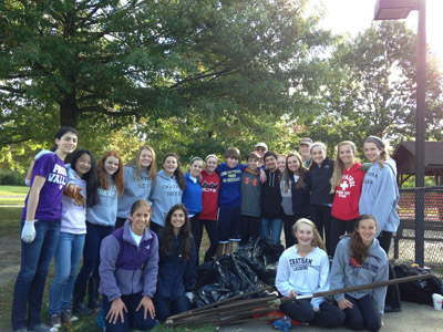 CHS Key Club at Shepard Kollock Cleanup